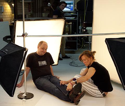 Sabine und Wolfgang beim Schuheshooting